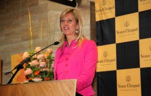 Jacqueline Zuidweg tijdens de uitreiking van de Prix Veuve Clicquot