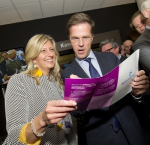 Jacqueline Zuidweg en Mark Rutte